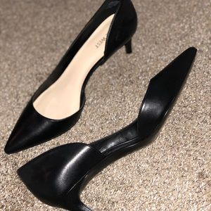 Black Kitten heeled pumps